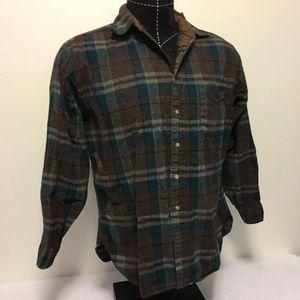 Vintage Pendleton Virgin Wool Flannel Button Down